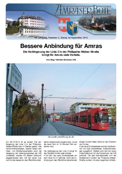Titelseite Amraser Bote